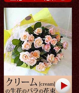 クリーム色のバラ