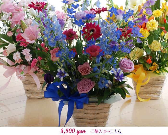 生花フラワーギフト:8500円