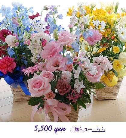 生花フラワーギフト:5500円