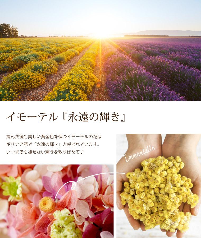 プリザードフラワー リース 紫陽花